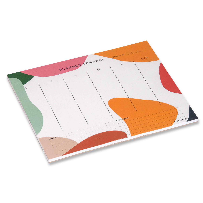 Planner Bloco Semanal Esquema-  24,5x20,3 Cicero
