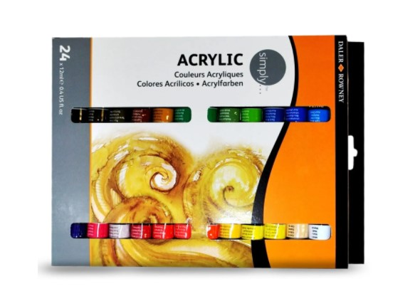Tinta Acrilico Simply Daler Rowney 24 cores