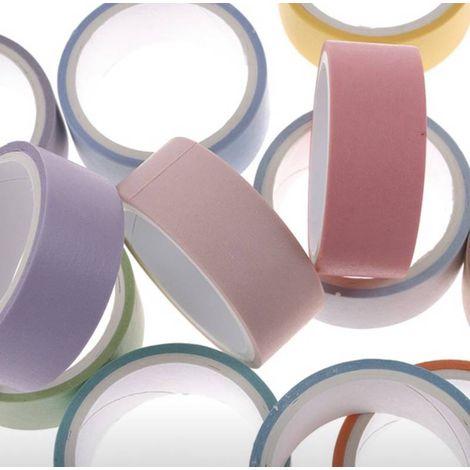 Washi Tape Fina 12 cores - Tons Pasteis