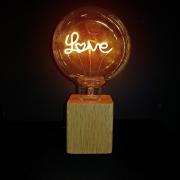 LUMINARIA MADEIRA LED LOVE TRANSP 220V 44624