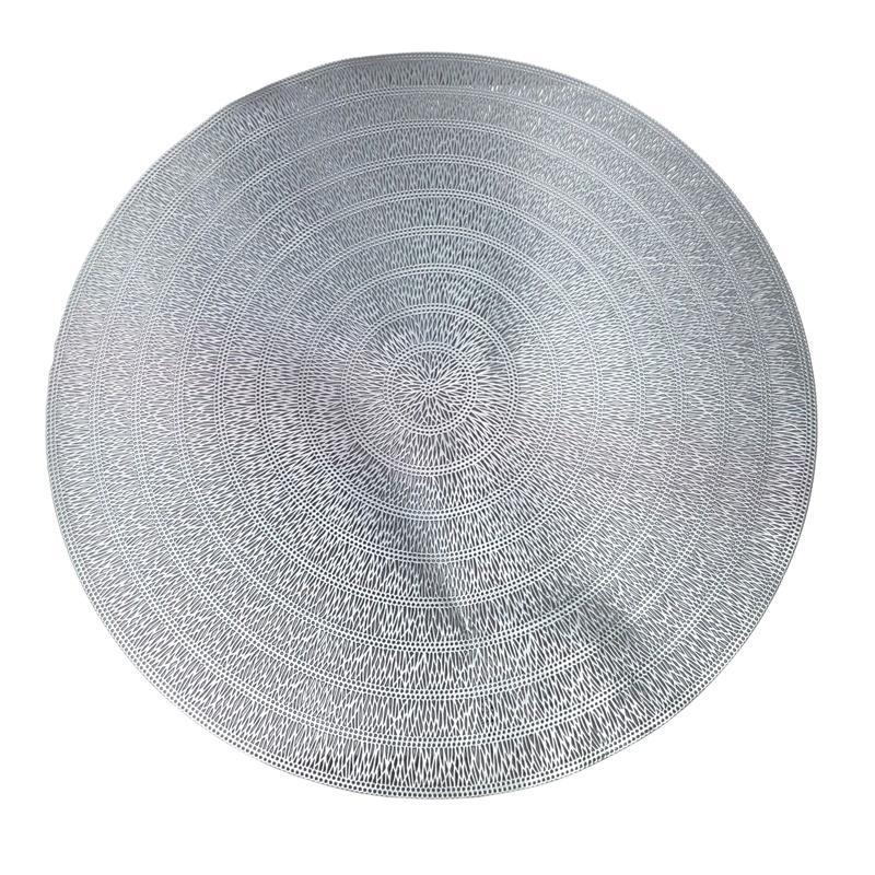 LUGAR AMERICANO PLAST ESPIRAL PRATEADO 38cm 1513