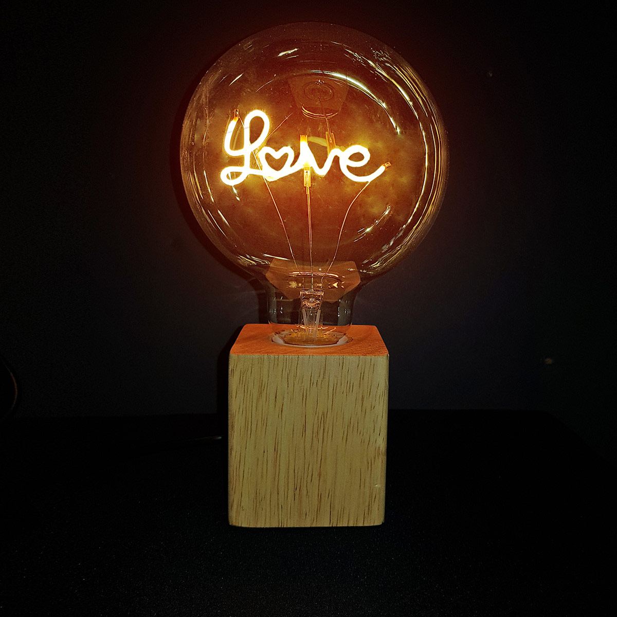 LUMINARIA MADEIRA LED LOVE TRANSP 110V 44623