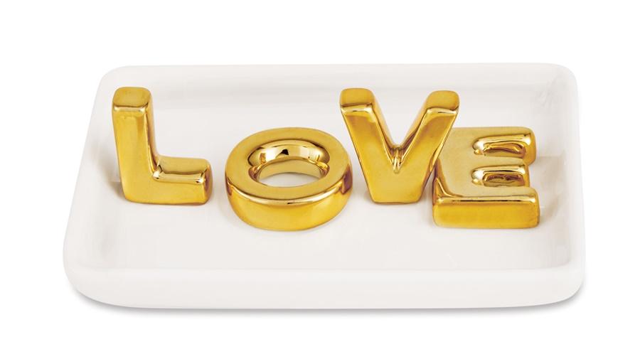 PORTA JOIA LOVE CERAMICA 12181
