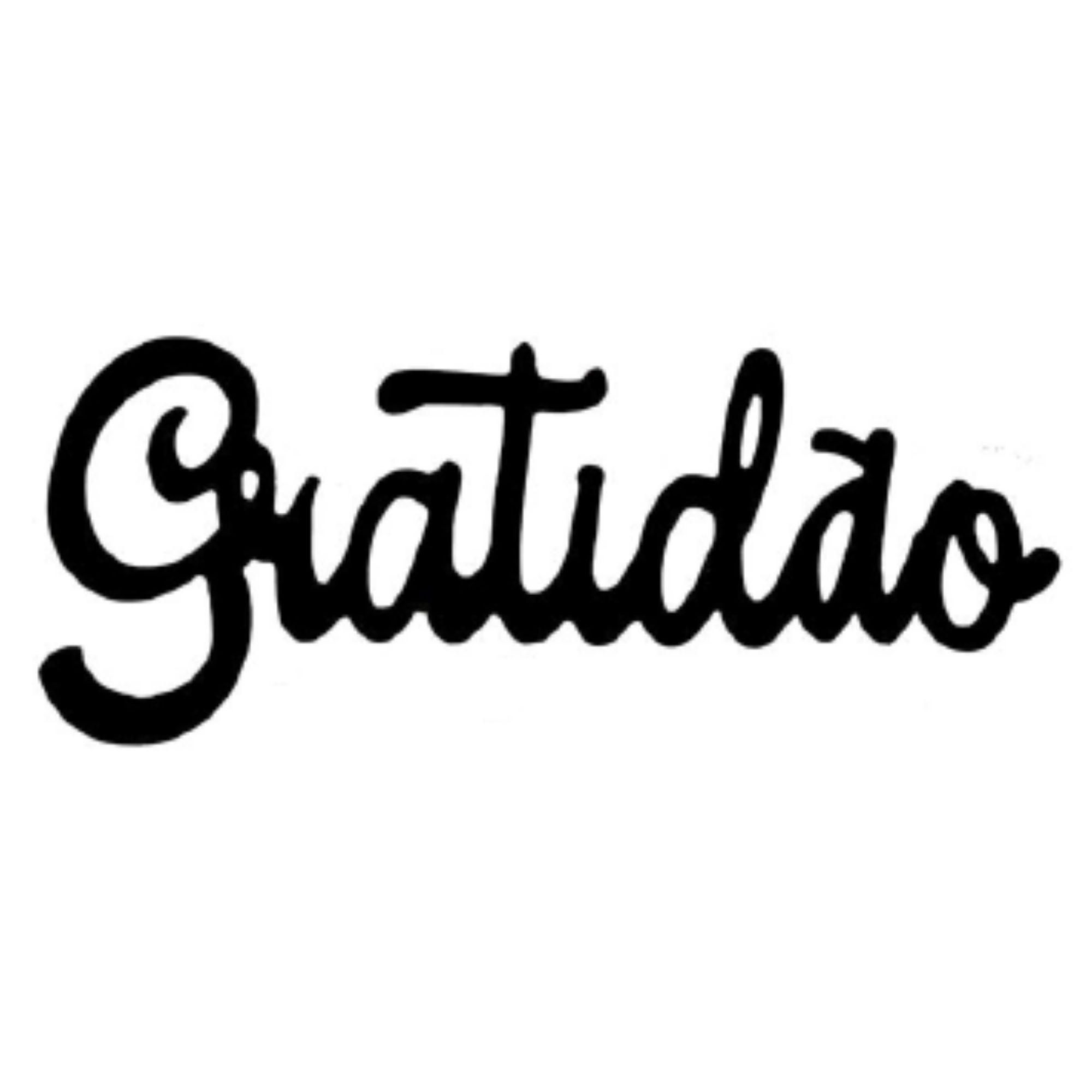 QUADRO MADEIRA GRATIDAO/FAMILIA 30X12CM