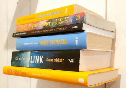 Suporte para livros invisível  BRANCA unidade