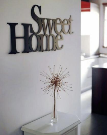 Placa para Hall de Entrada Sweet Home Aço Inox PREMIUM