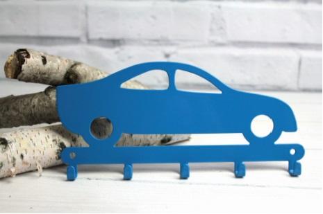 Porta chaves de parede carrinho veloz azul aço