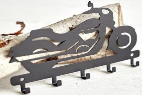 Porta chaves de parede super moto preta aço