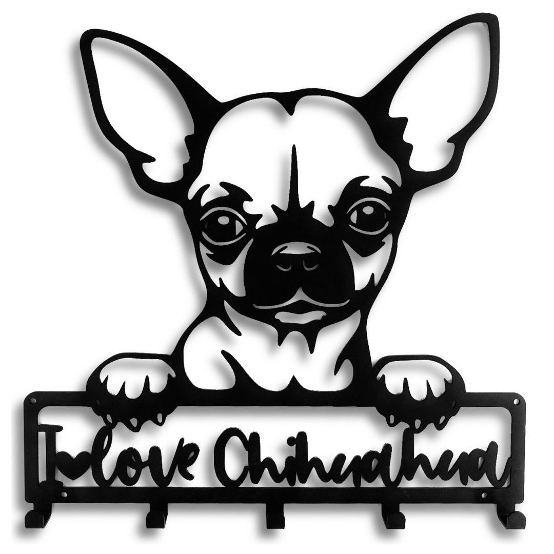 Porta Coleira para Chihuahua ,  Suporte Organizador Coleira de Cachorro