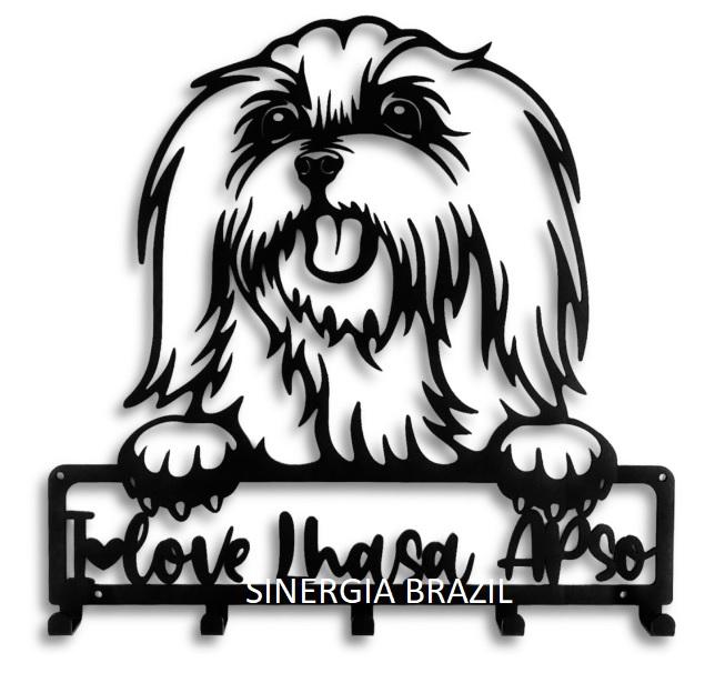 Porta Coleira para Lhasa, Suporte Organizador Coleira de Cachorro Aço
