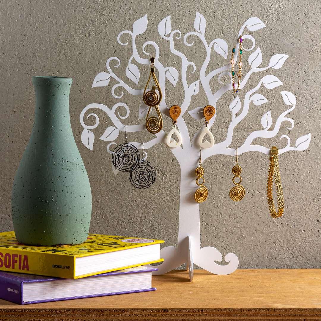 Porta-jóias árvore da vida aço