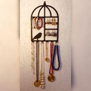 Porta joias casa dos pássaros aço