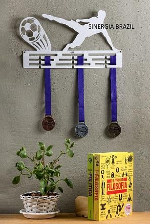 Porta-Medalha, suporte de medalhas Minhas Vitórias PREMIUM Aço