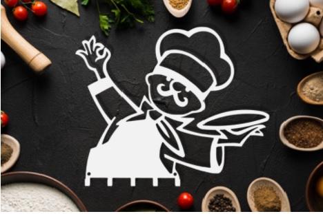 Porta-pano de prato do chef  branco aço Inox