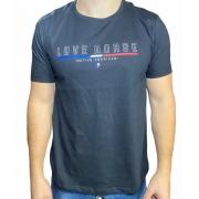 Camiseta Preta Country Love Horse Original