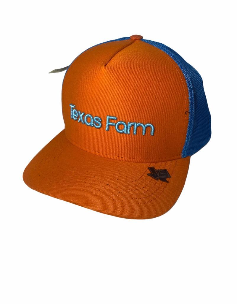 Boné Country Laranja e Azul Texas Farm Original!