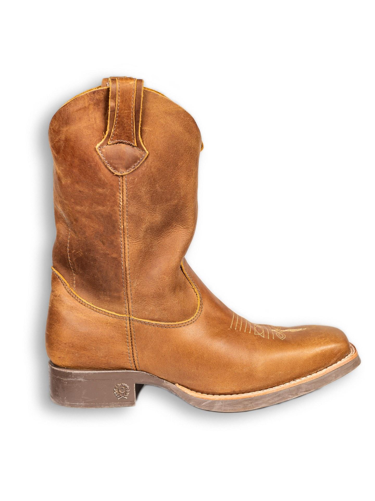 Bota Texana Country Classic Original Fóssil De Couro