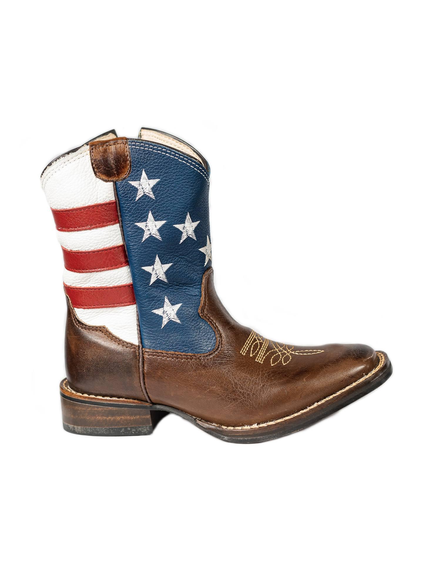 Bota Texana Infantil Country de Couro EUA Original Picolotto