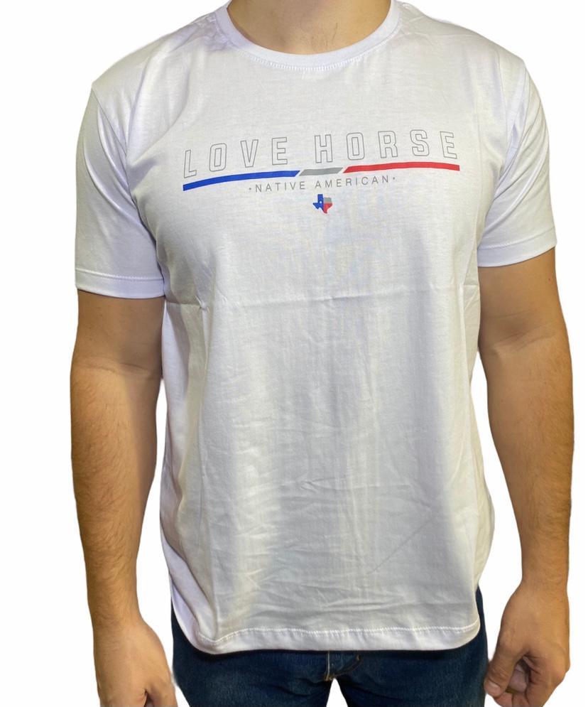 Camiseta Country Branca Love Horse Original!