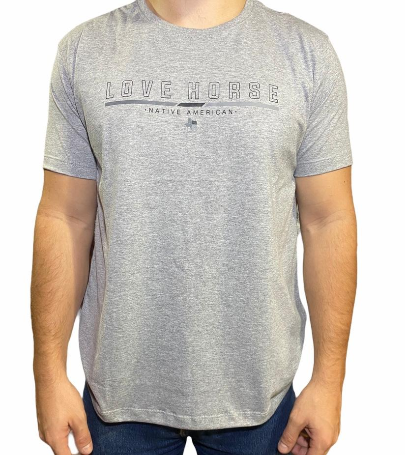 Camiseta Country Cinza Love Horse Original!