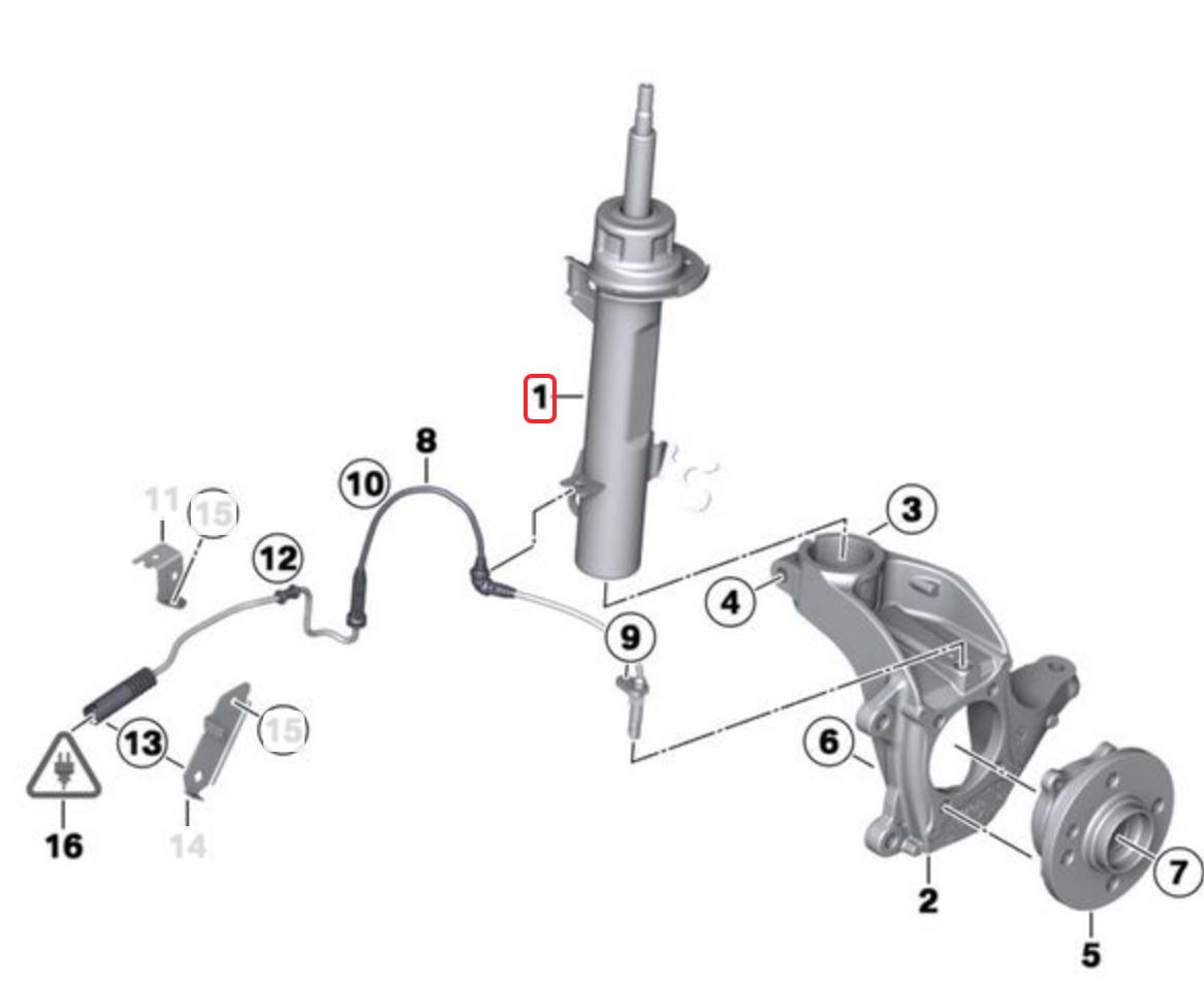 Amortecedor Diant Dir MINI Cooper / One 1.6 GP33336