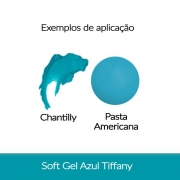 Cor. SoftGel Art. Alim. AZUL TIFFANY 60g