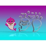 Cortador Baby Shark Corpo Mamãe Modular