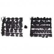 Cortador em Régua Alfabeto Maiúsculo e Minúsculo ( 1,5 x 1,5 ) (Pequeno)