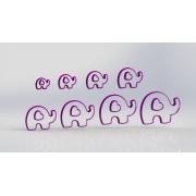 Cortador Kit Elefantes 10 a 3 cm
