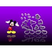 Cortador Mickey de Costas Frente Silhueta Modular