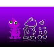 Cortador Monstros S/A  Cute - Randall  Modular