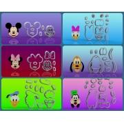 Cortador Turma do Mickey com 6 Personagens Modulares - PROMO