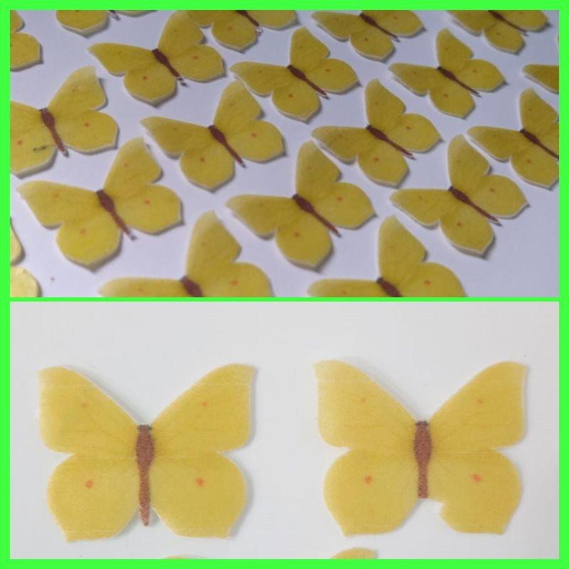 Borboleta Amarela Mod 1( Kit com 10 Un)