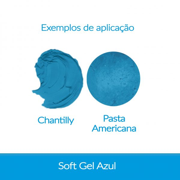 Cor. SoftGel Art. Alim. AZUL 60g