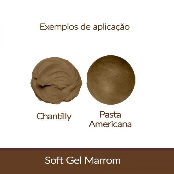 Cor. SoftGel Art. Alim. MARROM 60g