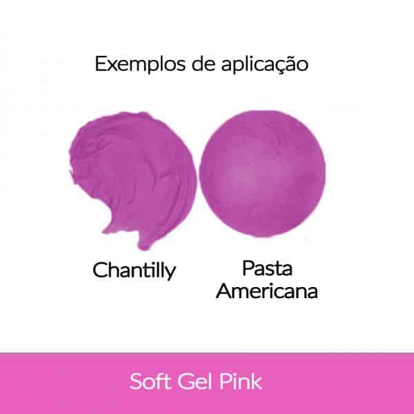 Cor. SoftGel Art. Alim. PINK 60g