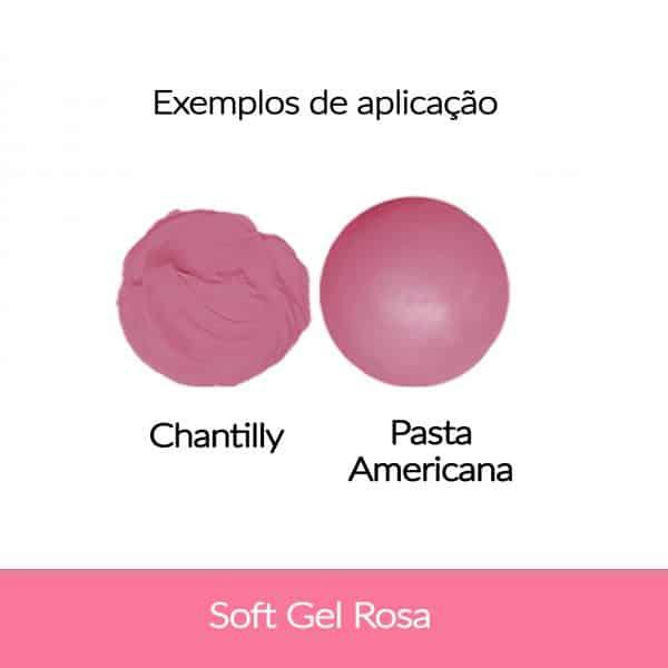 Cor. SoftGel Art. Alim. ROSA 60g