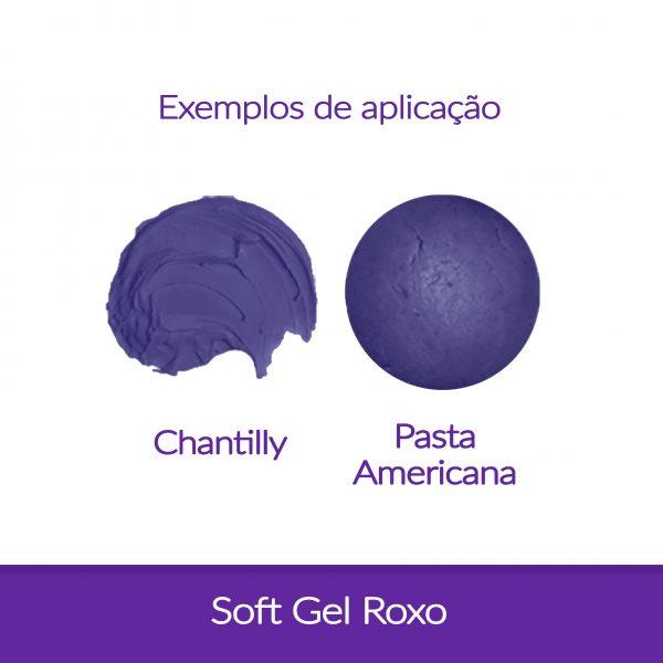 Cor. SoftGel Art. Alim. ROXO 60g