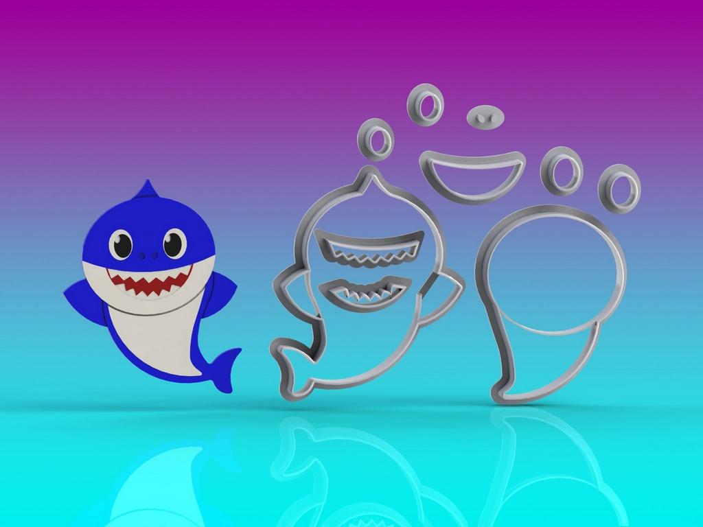 Cortador Baby Shark Corpo Papai Modular