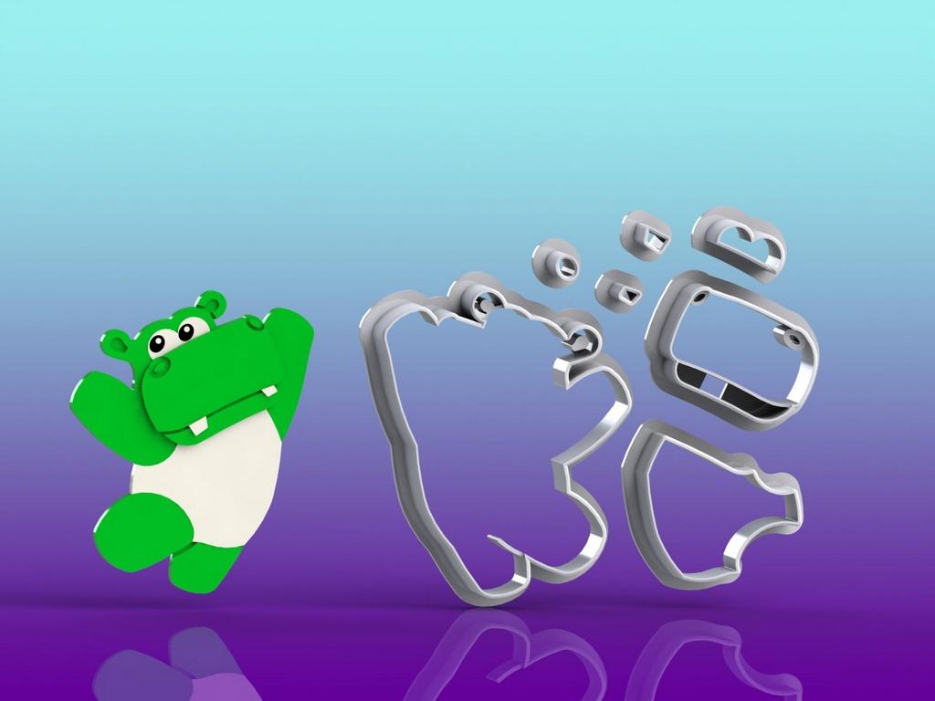 Cortador Baby TV - Hipopótamo Modular