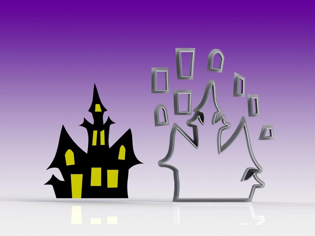 Cortador Castelo da Bruxa - Halloween