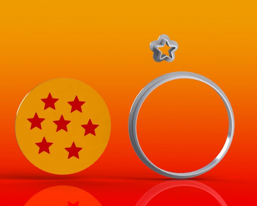 Cortador Dragon Ball -  Esfera do Dragão Modular