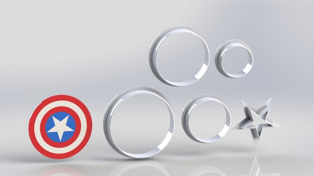 Cortador Heróis - Capitão América Escudo Modular