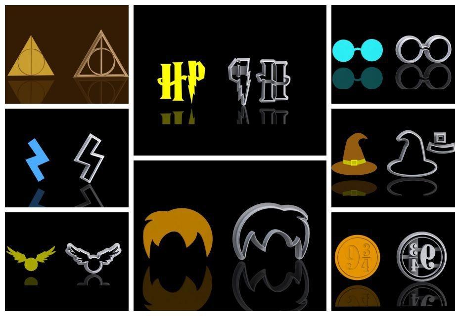 Cortador Kit Harry Potter com 8 modelos