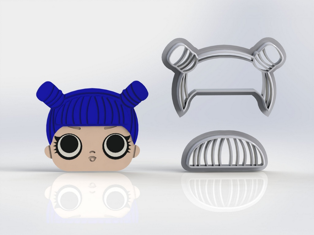 Cortador Kit Lol Surprise 6 modelos + logo Modulares