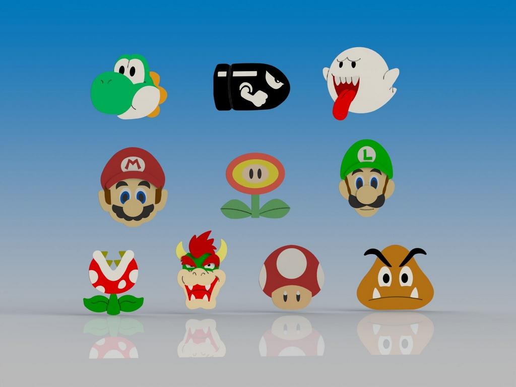 Cortador Kit Mario - 10 Personagens Modulares