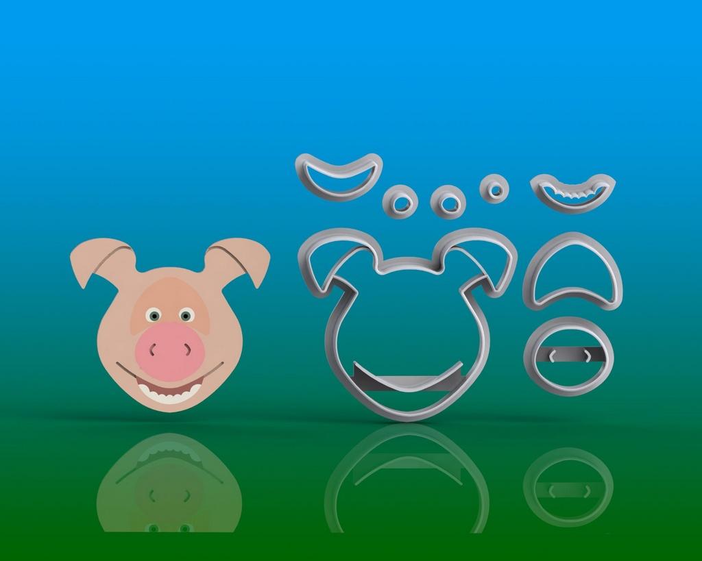 Cortador Kit Masha e o Urso- 5 Personagens Modulares (Amigos da Masha)