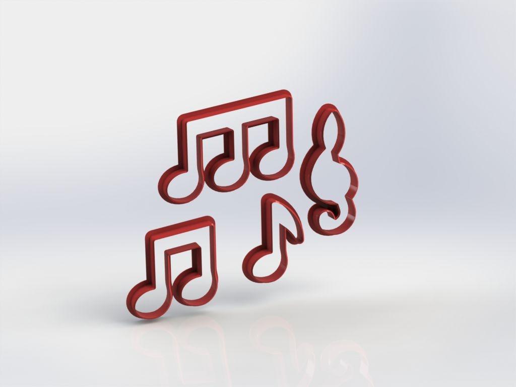 Cortador Kit Notas Musicais Mod 2