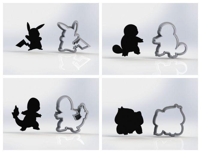 Cortador Kit Pokemon Contornos 4 cm