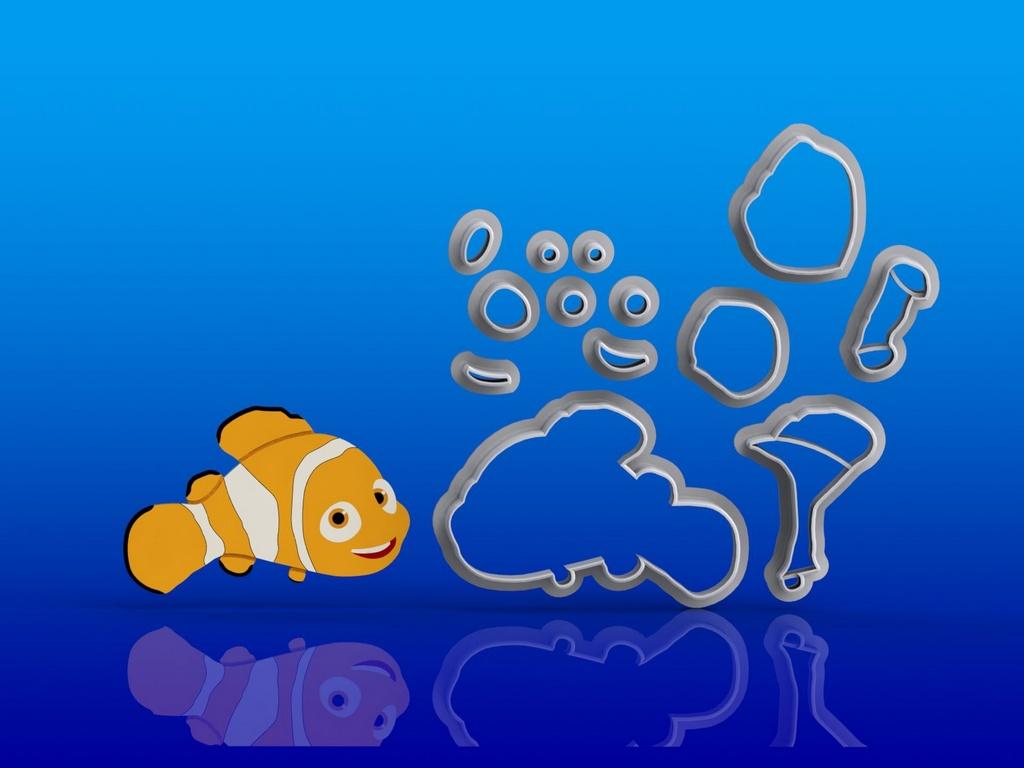 Cortador Kit Procurando Nemo - 3 modelos modulares